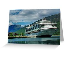 When D boat comes in. Greeting Card