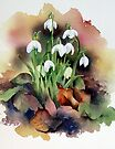 Snowdrops and Fallen Leaves by Ann Mortimer