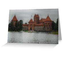 Castle of TRAKAI, gate Greeting Card