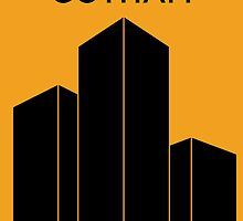 Gotham - Typeface Poster Series by Nick Mann