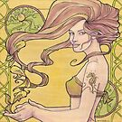 Tattooed Mermaid 2 by Karen  Hallion