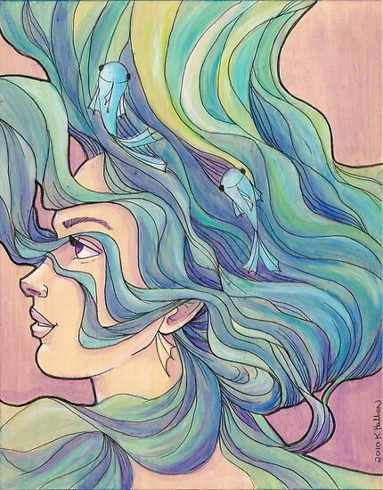 Ocean Wave by Karen  Hallion