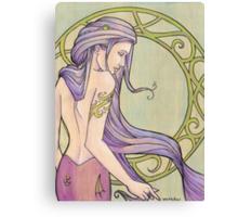 Tattooed Mermaid 3 Canvas Print