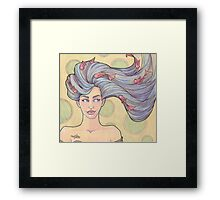 Tattooed Mermaid 7 Framed Print
