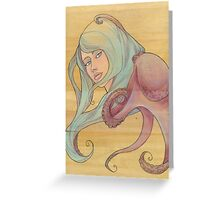 The Octopus Mermaid 3 Greeting Card