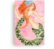 Cute Green Tail Jasmine Mermaid Metal Print