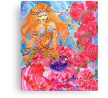 Rose Bellydancer Mermaid Metal Print