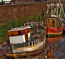 Maryport Harbour by Charles Little