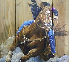Barrel Racing by Carlos Solorza