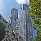 Tall Government Buildings, Tokyo, Japan. by johnrf