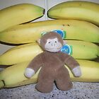 Monkey with bananas by Allan  George
