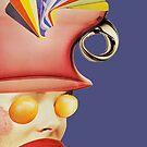 fan hat purple by Soxy Fleming