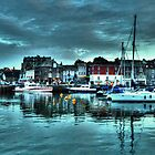 Padstow harbour at dusk by Rob Hawkins