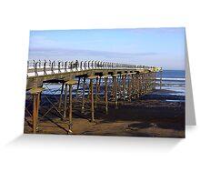 The Pier Saltburn Greeting Card