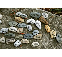 Peace messages on pebbles Photographic Print