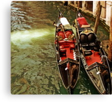 Jawning gondole Canvas Print
