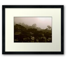 Marine layer coming thru Framed Print