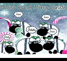 Christmas Card - Sheep (Crude Art) by Moonlake