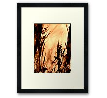 flame engulfed... inferno down in the valley Framed Print