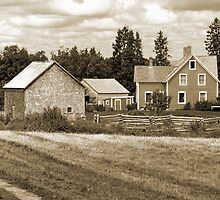 Joslin Farm 1860 Sepia 1 by Mark Sellers