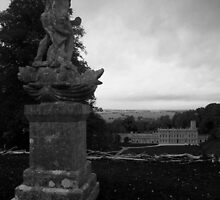 Dyrham Park A Statue View by LSPPhotography