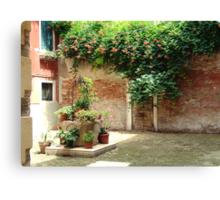 Venice - the sunny corner Canvas Print