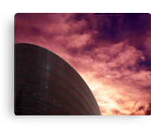 Cityscapes - Purple Glow Canvas Print