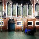Venice, Canal Grande view with gondola by Luisa Fumi