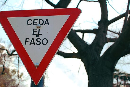 Ceda el Faso - (Ceda el paso) - ENG:Give joint (give way) by Denis Marsili
