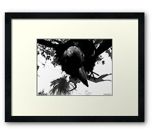Barbie Attacked by Giant Monsterbird Framed Print