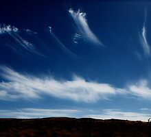Cirrus clouds over Blue Diamond Hills by David Frederick
