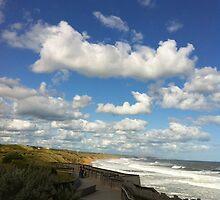 Viewpoint of high-up on a handrail @ Logan's beach IIII by Britt-Astrid