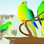 Orange Bellied Parrots by rodesigns