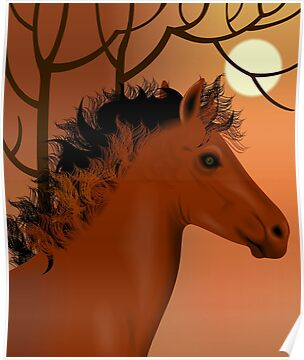 Horse and nature	 by tillydesign