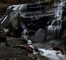 Lower cascades of Issaqueena Falls by DHParsons