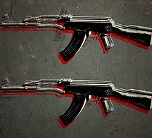 AK47 Assault Rifle Pop Art by ArtPrints