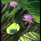 """Splendor of the Lilies in the Sun."" by amyglasscockart"