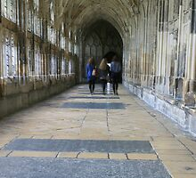 Three Girls in Gloucester Cathedral by Jeff  Wilson