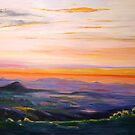 Tamborine Mountain Sunset Panorama by Virginia McGowan