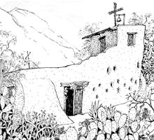 Southern Arizona in Pen and Ink by James Lewis Hamilton