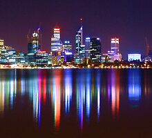 Perth's Impressive Light Show by Kymie