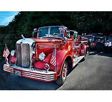 Fireman - 1949 and it still runs  Photographic Print