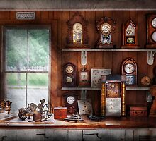 Clocksmith - In the Clock Repair Shop by Mike  Savad