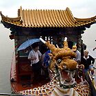 In the belly of the dragon..... boat that is! by Nancy Richard