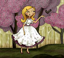 Victoria in the Pink Garden by Rencha
