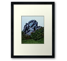 Cairn, Oil on Board-mounted Paper, 25.5x20.5  Framed Print