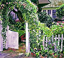 Charming Cottage Gate by David Lloyd Glover