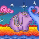 Elephant moonlight love by Elspeth McLean