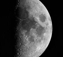 First quarter Moon by Duncan Waldron