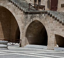 Ancient Rhodes Courtyard by phil decocco